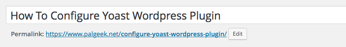 Configure Yoast WordPress Plugin Post Title